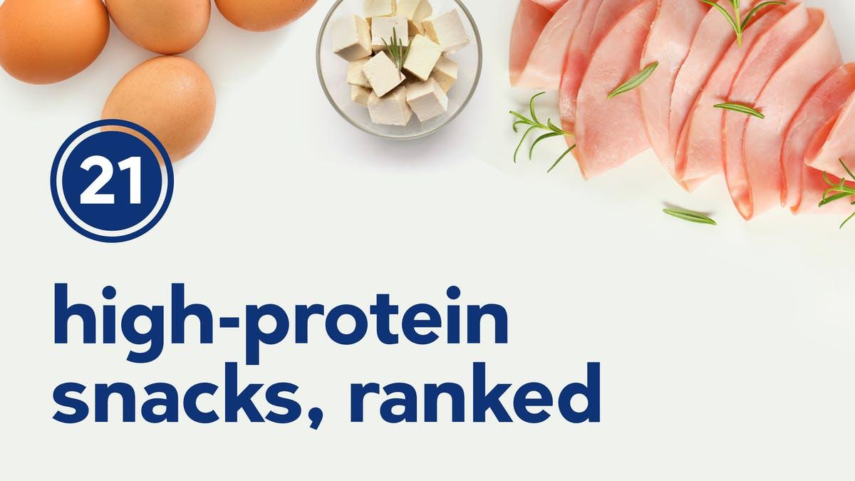 21 en-cas hyperprotéinés, classés