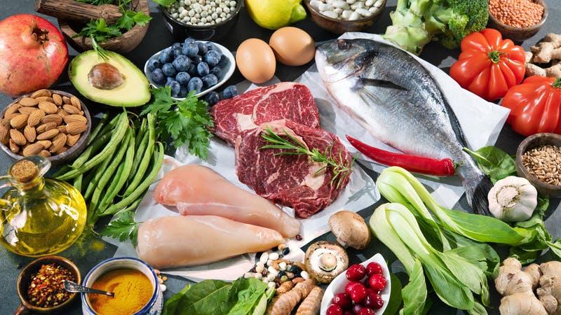 Fond d'aliments pour un régime équilibré